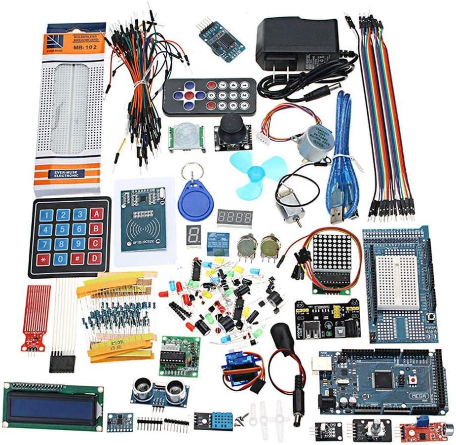 Guolongbaihuo El Kit del módulo Nano Versión Batería Mega 2560 el más Completo Starter Kits definitiva for Mega2560 UNOR3