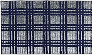 Mohawk Home Blue and White Checkered Accent Rug (27 inch x 45 inch)