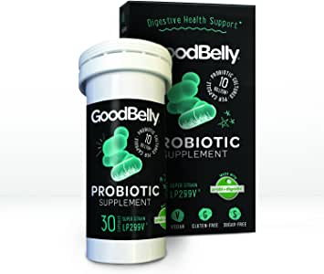 GoodBelly® Probiotic Supplement for Digestive Health - Probiotics for Men and Women - Aids in Digestion & Supports Your Active Lifestyle {1 Box - 30 Capsules}