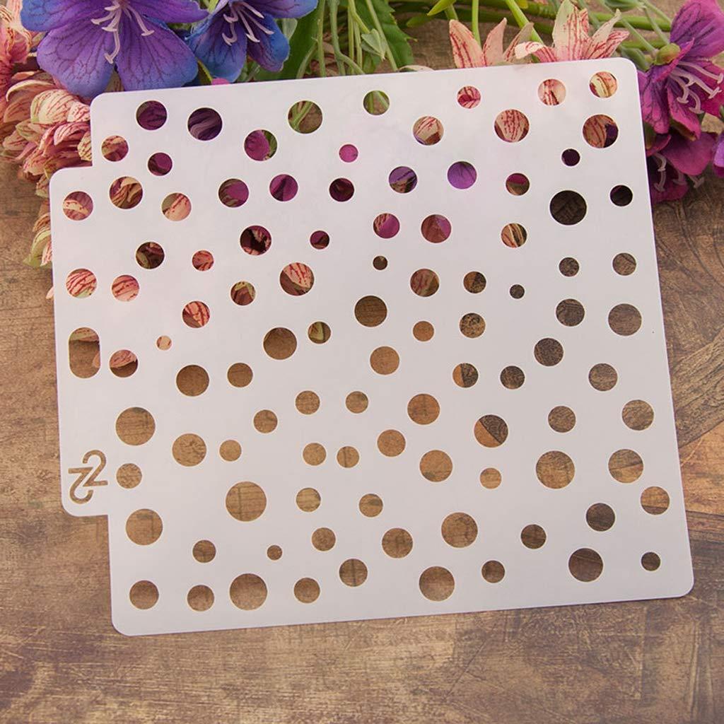 BINGHONG3 9pcs//set Heart Airbrush Painting Stencil DIY Scrapbooking Album Craft Reusable