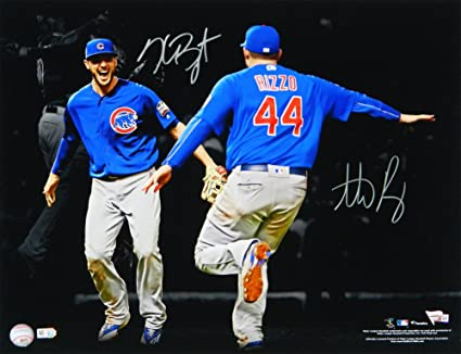 7580a30d361 Anthony Rizzo   Kris Bryant Dual Autographed Signed Chicago Cubs 2016 World  Series Spotlight Celebration