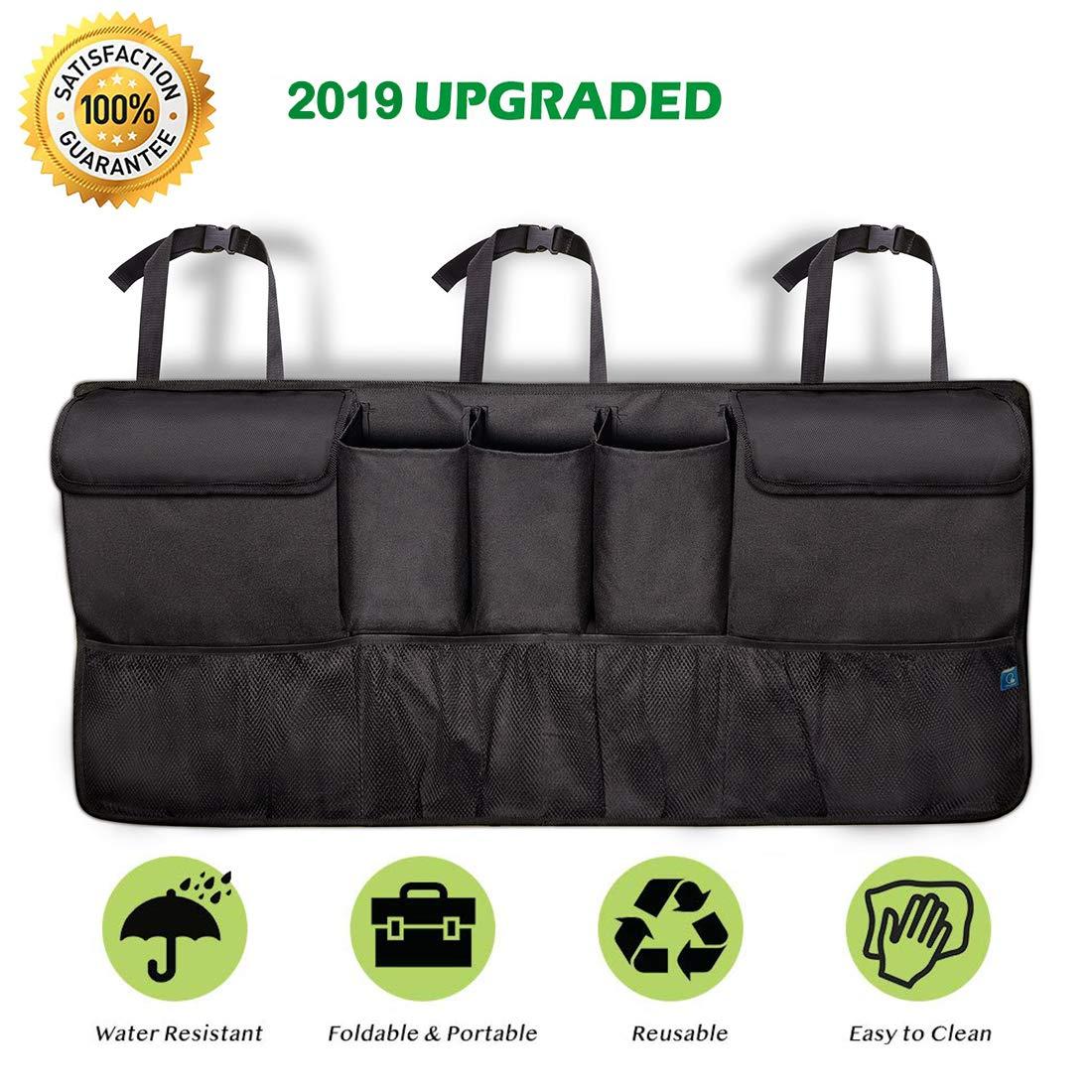 Car Backseat Organizer for SUV Van Container COOLBEBE Trunk Organizer Car Storage Auto Organizer with 5 Deep Pockets /& 4 Pockets Mesh Quality