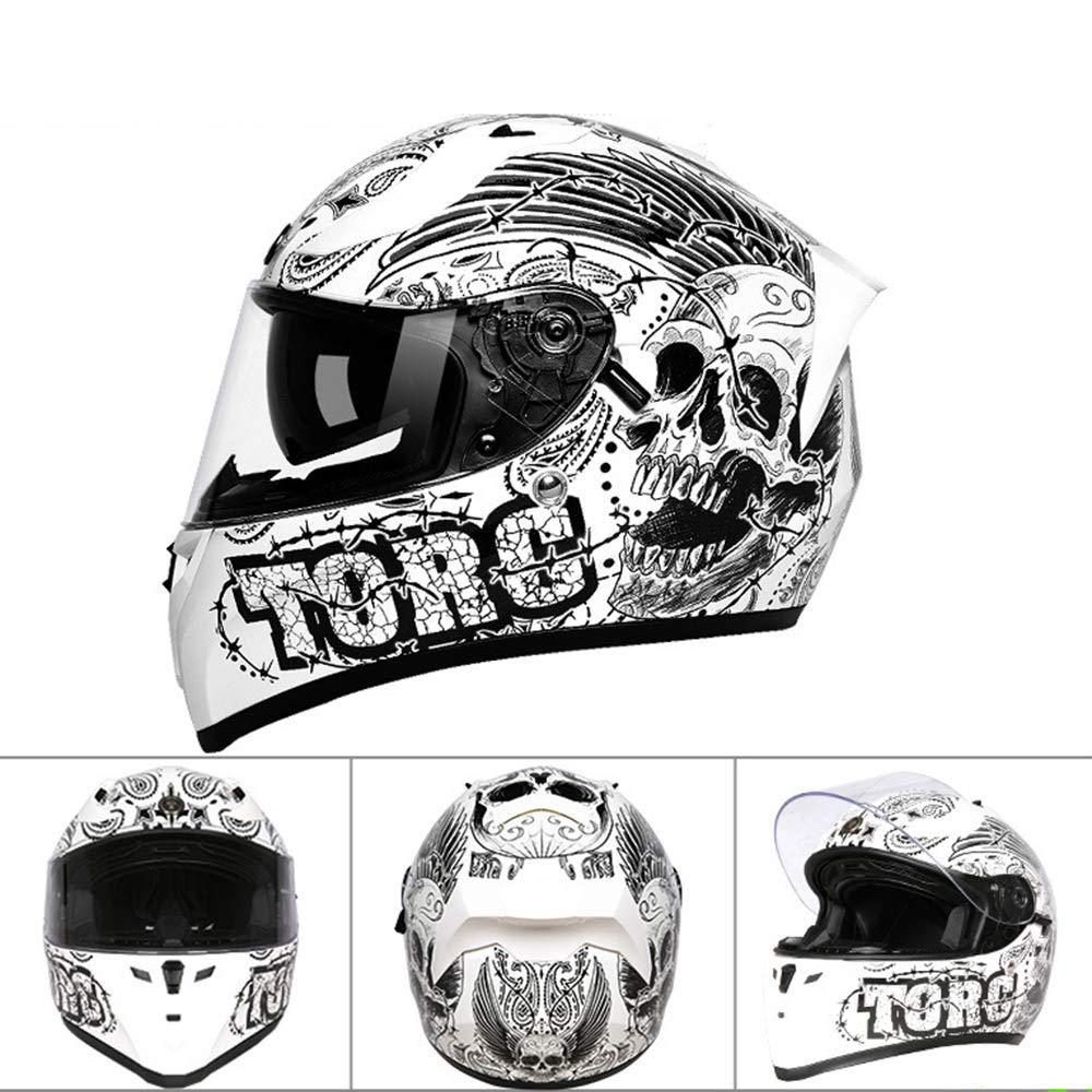 YQYL Los Cascos de Motocicleta de los Hombres y Mujeres de ...