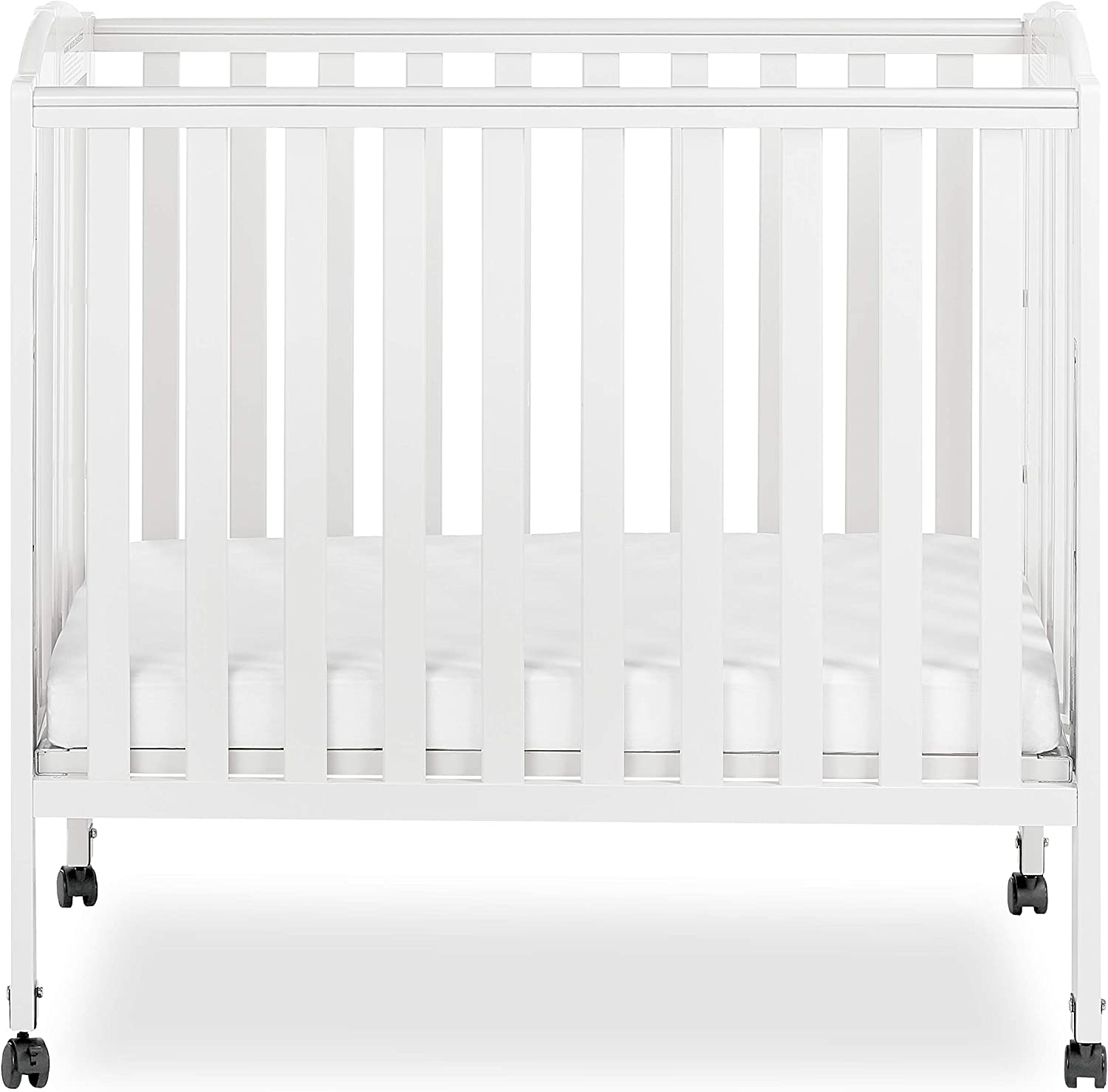 Dream On Me 3 In 1 Portable Folding Stationary Side Crib White Amazon Ca Baby