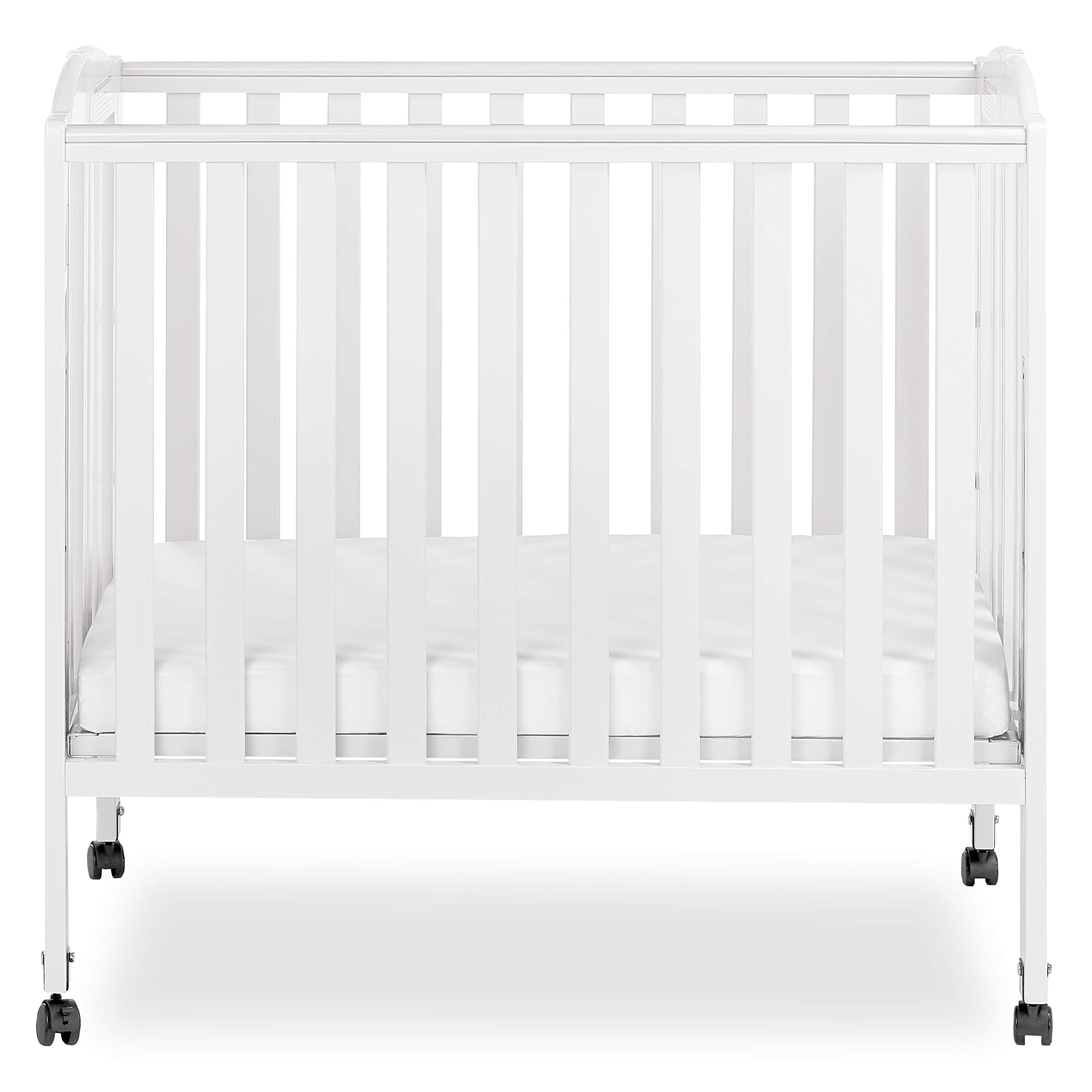 Dream On Me 3 in 1 Portable Folding Stationary Side Crib, White by Dream On Me