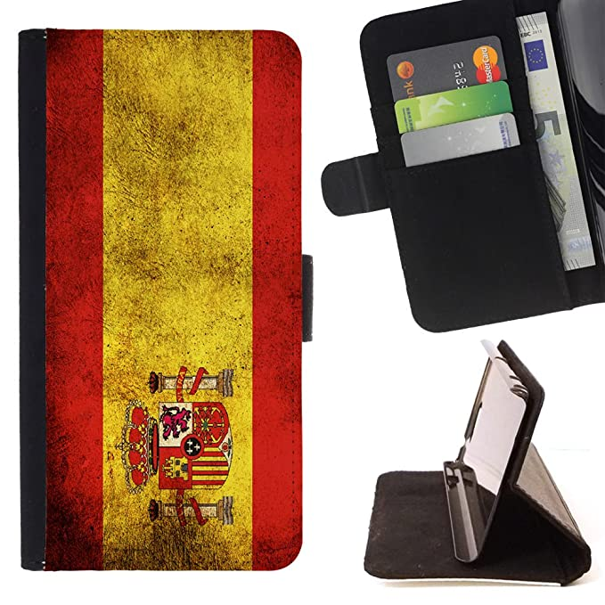 Amazon.com: Graphic4You Vintage Spanish Flag of Spain Design Thin Wallet Card Holder Leather Case Cover for Motorola Droid Turbo 2: Cell Phones & ...