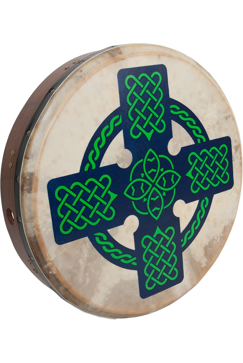 MID-EAST ROOSEBECK TUNABLE SHEESHAM BODHRAN CROSS-BAR 18-BY-3.5-INCH - CELTIC CROSS   by Roosebeck