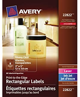 avery ink jet clear address labels 2 x 4 250 per pack 8663
