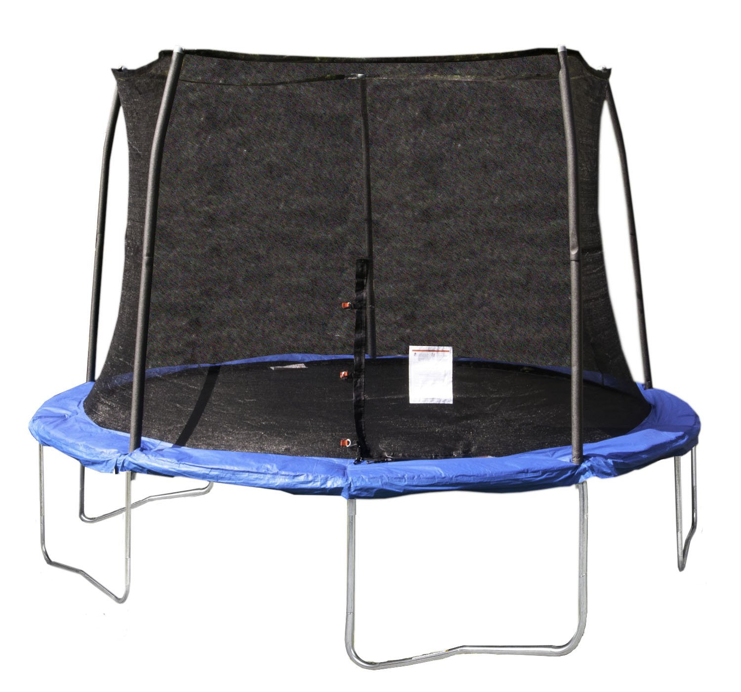 JumpKing 12 Foot Outdoor Trampoline and Safety Net Enclosure Combo, Blue JK12VC1 by JumpKing