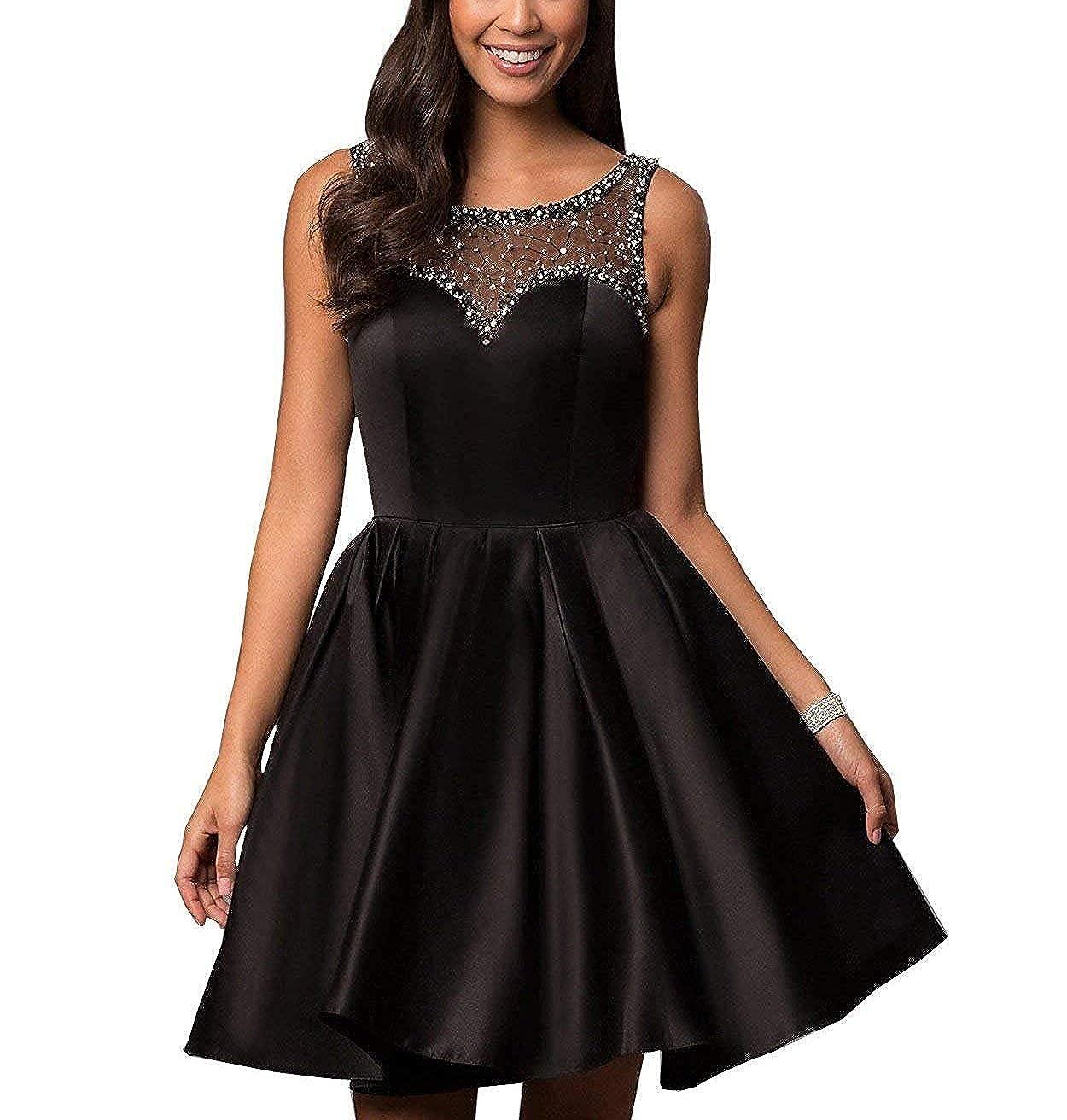 91ec6579824b Black Short Formal Dresses For Juniors | Saddha