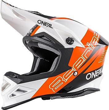 O Neal 8SERIES MX Casco Nano Naranja Negro Blanco Motocross Enduro Offroad Quad Cross, 0614 - 90: Amazon.es: Deportes y aire libre