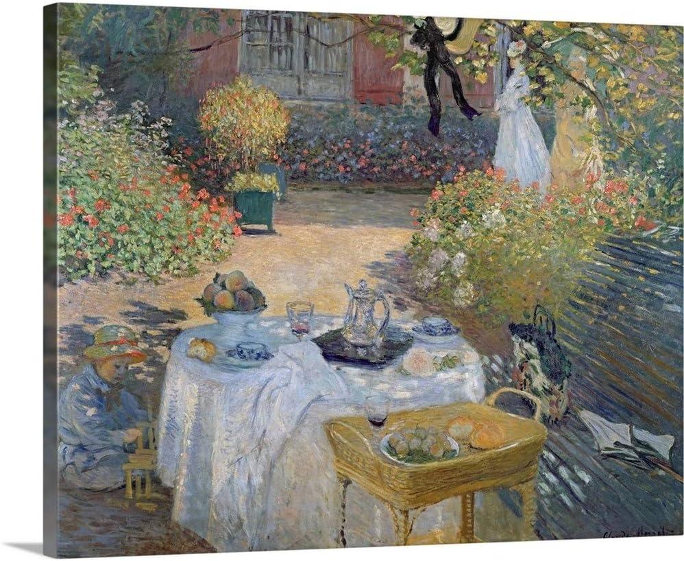 The Luncheon Monet's Garden at Canvas Wall Art Print, Food Artwork