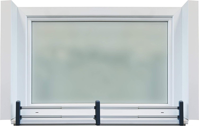 set di base: classico, grigio segnale GREEN CREATIONS porta fioriere set masu basic si adatta a qualsiasi davanzale da 78 cm a 140 cm senza forare senza danneggiare la facciata