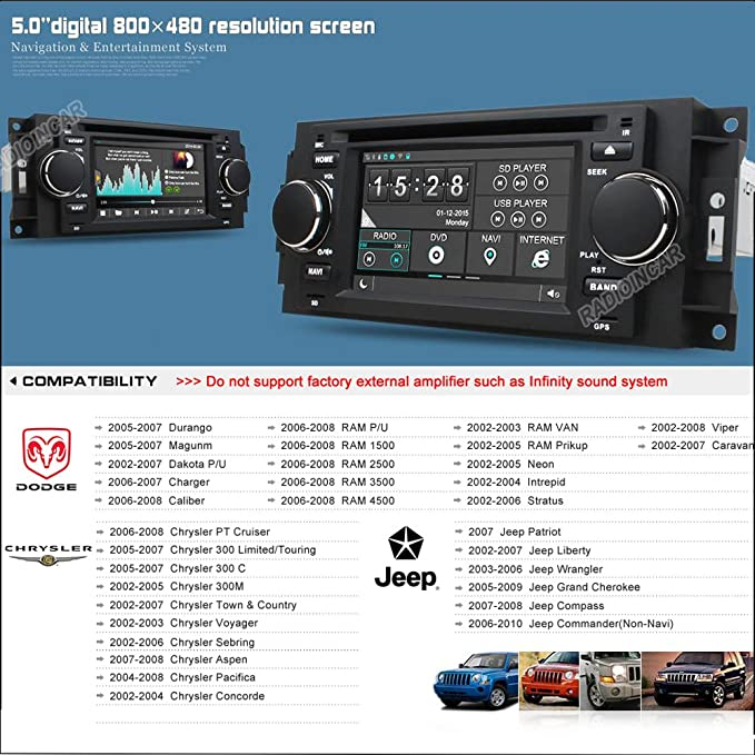 Amazon Witson 5\ For Chrysler Jeep Cherokee Mander Pass Rhamazon: 2007 Dodge Radio Stays On At Gmaili.net