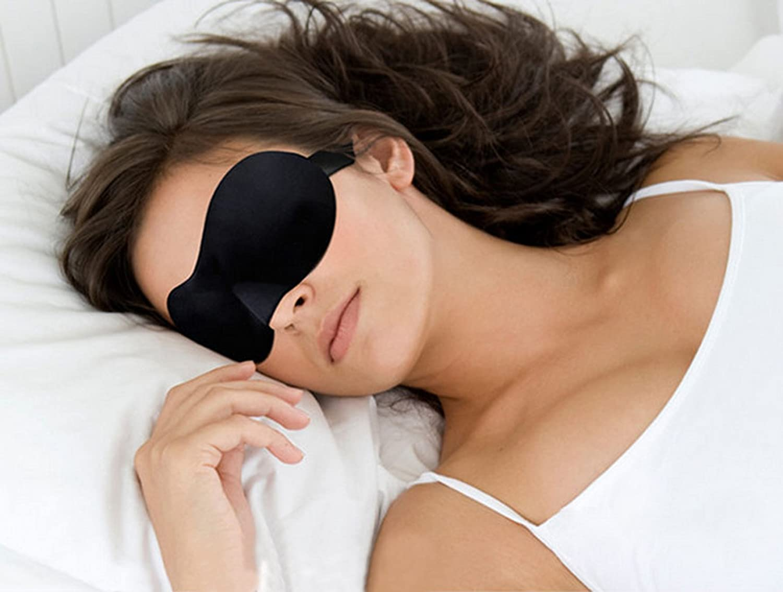 AikeSweet confortables mous Masque pour les yeux/Masque pour Dormir, qualité premium, excellente flexibilité et confortable pour hommes et femmes–Dormir Masque pour la maison et en voyage * * n