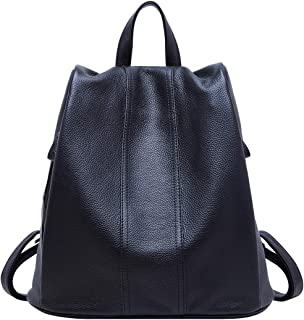 BOYATU Genuine Leather Backpack for Women Anti-theft Rucksack Ladies Travel  Bag 4a0032b51219d