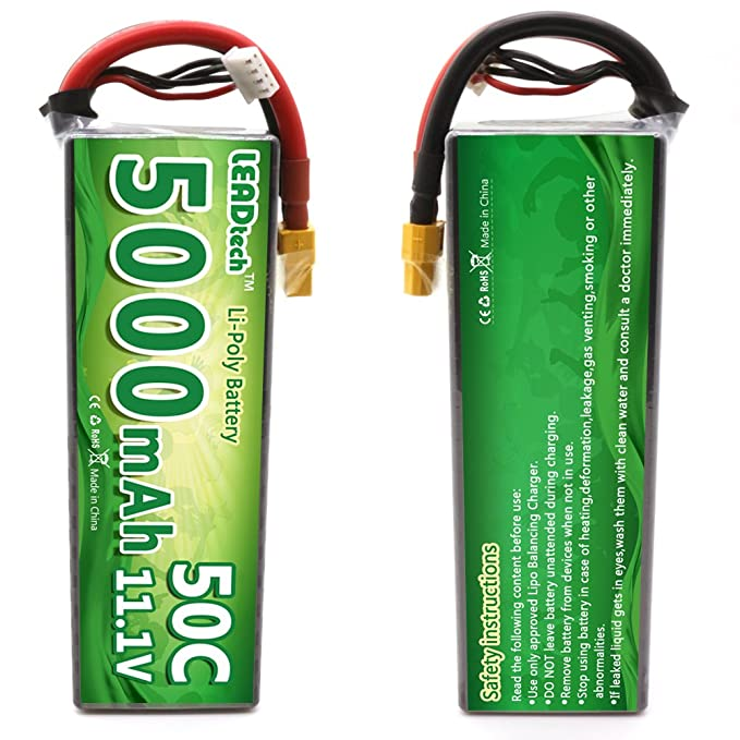 Amazon Leadtech 3s Lipo Battery 5000mah 111 V Rc Batteries 50c