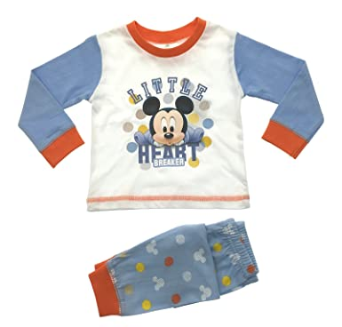 01d4eaf90 Baby Boys Disney Mickey Mouse Little Heart Breaker Pyjamas Age 6 Months to  24 Months (23945) (12-18 Months ): Amazon.co.uk: Clothing
