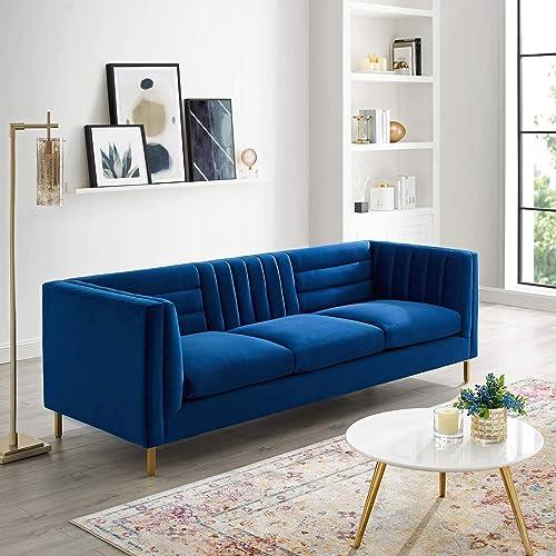Modway Ingenuity Channel Tufted Performance Velvet Sofa