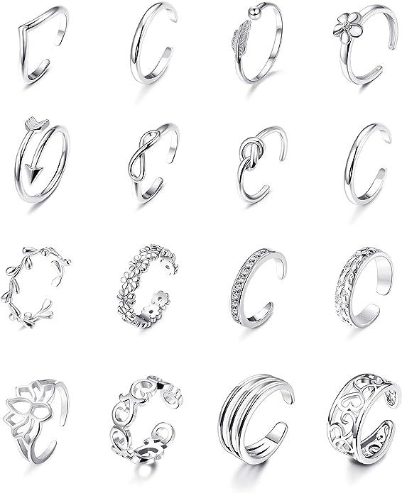 Flower Toe Ring Toe Rings Hawaiian Toe Ring Toe Ring Stacking Rings Stack of Three Rings Midi Ring Silver Ring- Puanani