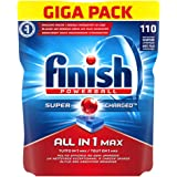 Finish All in 1 Max Pastiglie Lavastoviglie, Regular, 110 Tabs