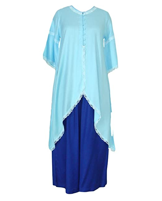 a3439ac6e Patrorna Blended Women s Maternity Nursing Long Bustier Angel Sleeve Top  and Palazzo Pant Set In Ocean Blue Royal Blue (Size XS-7XL