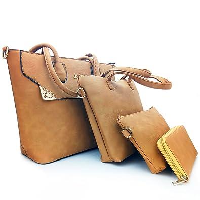 Amazon.com: kaiwen Moda bolsa de hombro piel sintético bolso ...