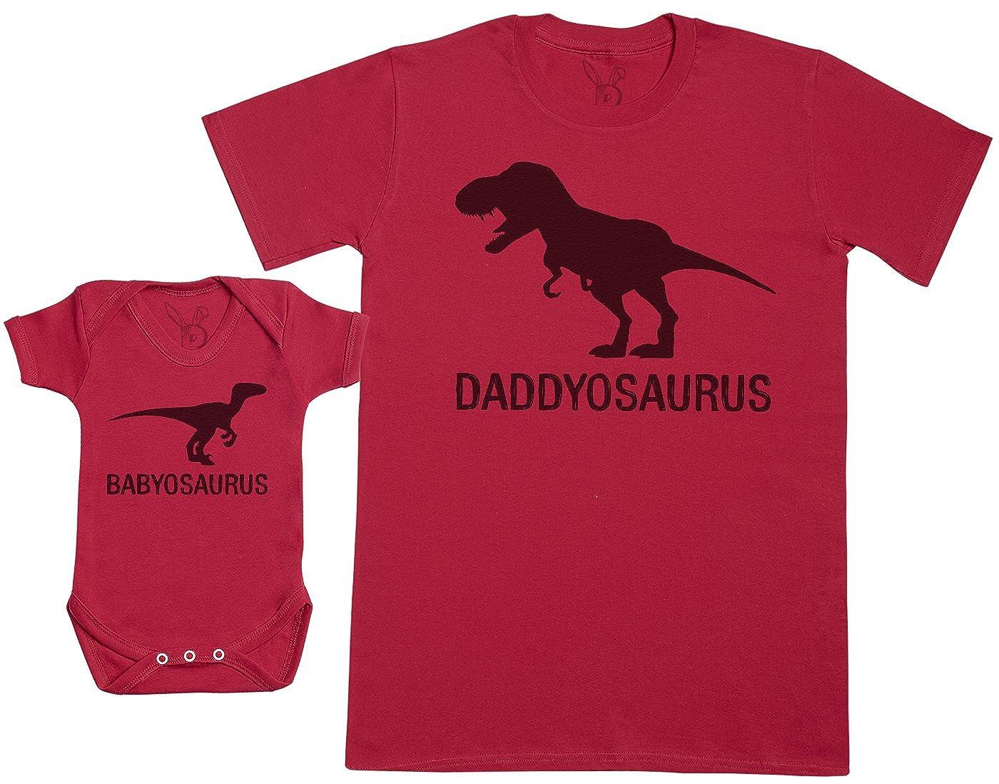 Baby Bunny Babyosaurus with Daddyosaurus - Ensemble Père Bébé Cadeau - Hommes T-Shirt & Body Bébé a-DS10-D-BB