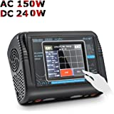HTRC T240 DUO RC Balance Ladegerät/Entlader für Lilon LiPo LiFe LiHV NiCd NiMH PB Smart Batterie Dual-Multi-Ladegerät AC 150W / DC 240W 10A