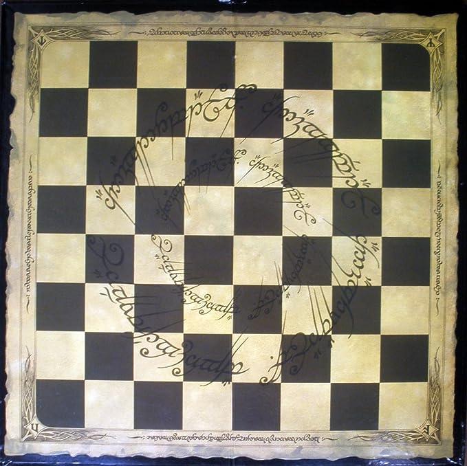 Tablero de ajedrez para la colección Ajedrez Señor de los Anillos realizado en cartón 41x41 cms: Amazon.es: Juguetes y juegos
