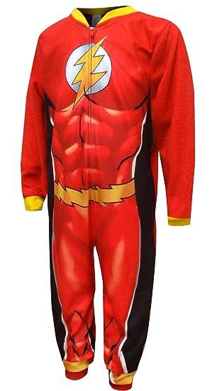 5962f003bc Komar Kids Boys  DC Comics The Flash Fleece Sleeper Pajamas (8 ...