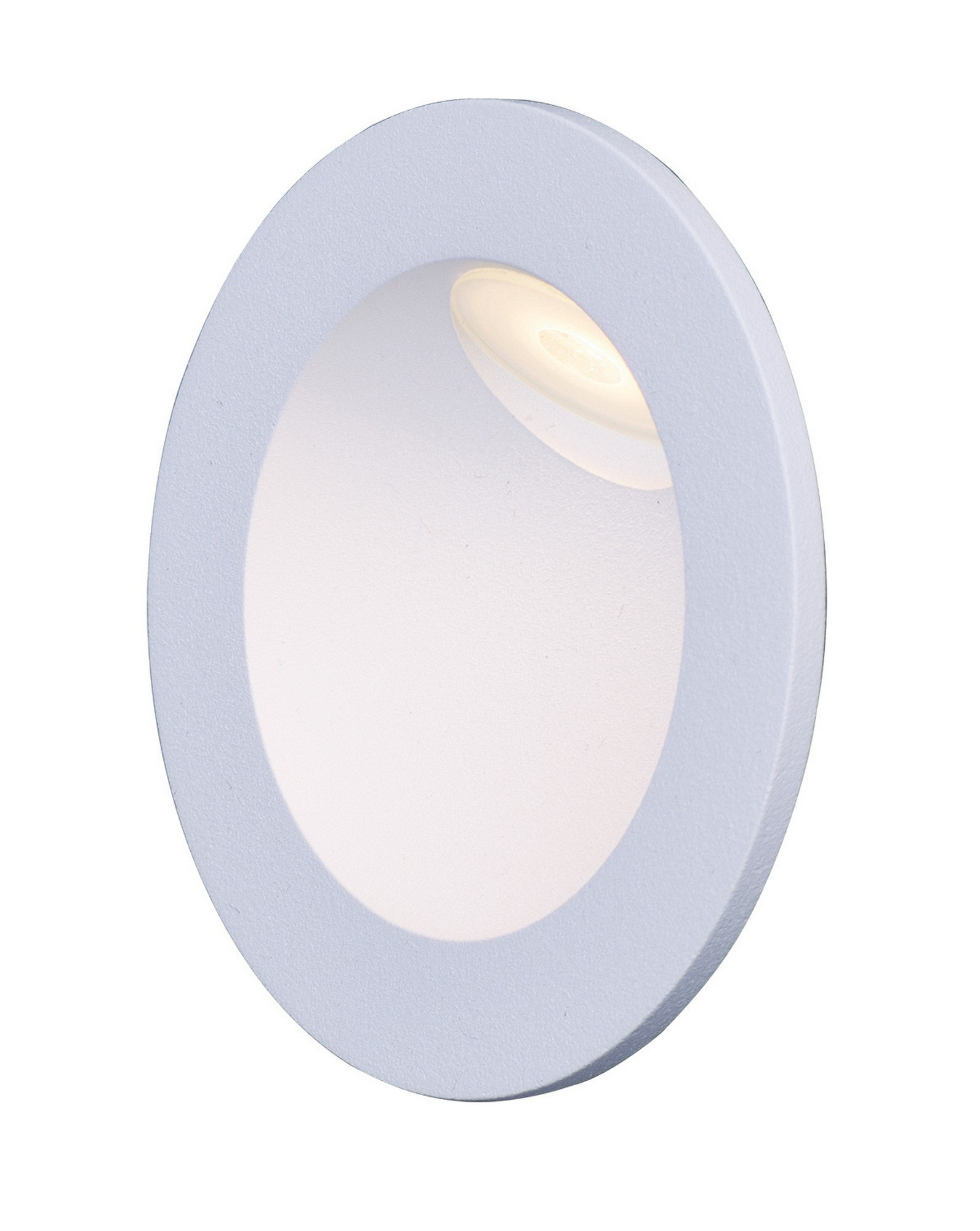 Maxim 58006WT Path LED Step Light, White Finish, Glass, PCB LED Bulb , 40W Max., Dry Safety Rating, Standard Dimmable, Shade Material, Rated Lumens