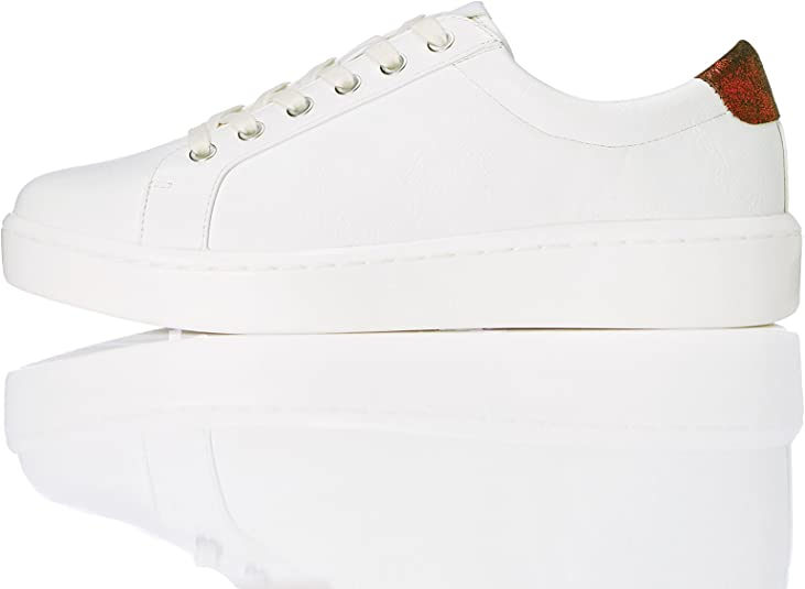 Low Top Trainers White 7 UK