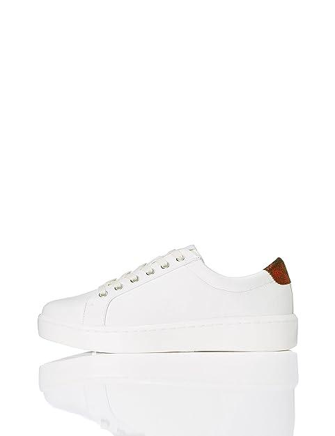 Find Zapatillas de Piel para Mujer, Blanco (White), 36 EU