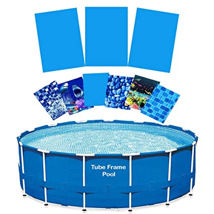 Quality Pool Products 15\' Replacement Relining Kit for Tube Frame Swimming  Pools - Glacier Peak HD Design - Includes Overlap Pool Liner & Clips for ...