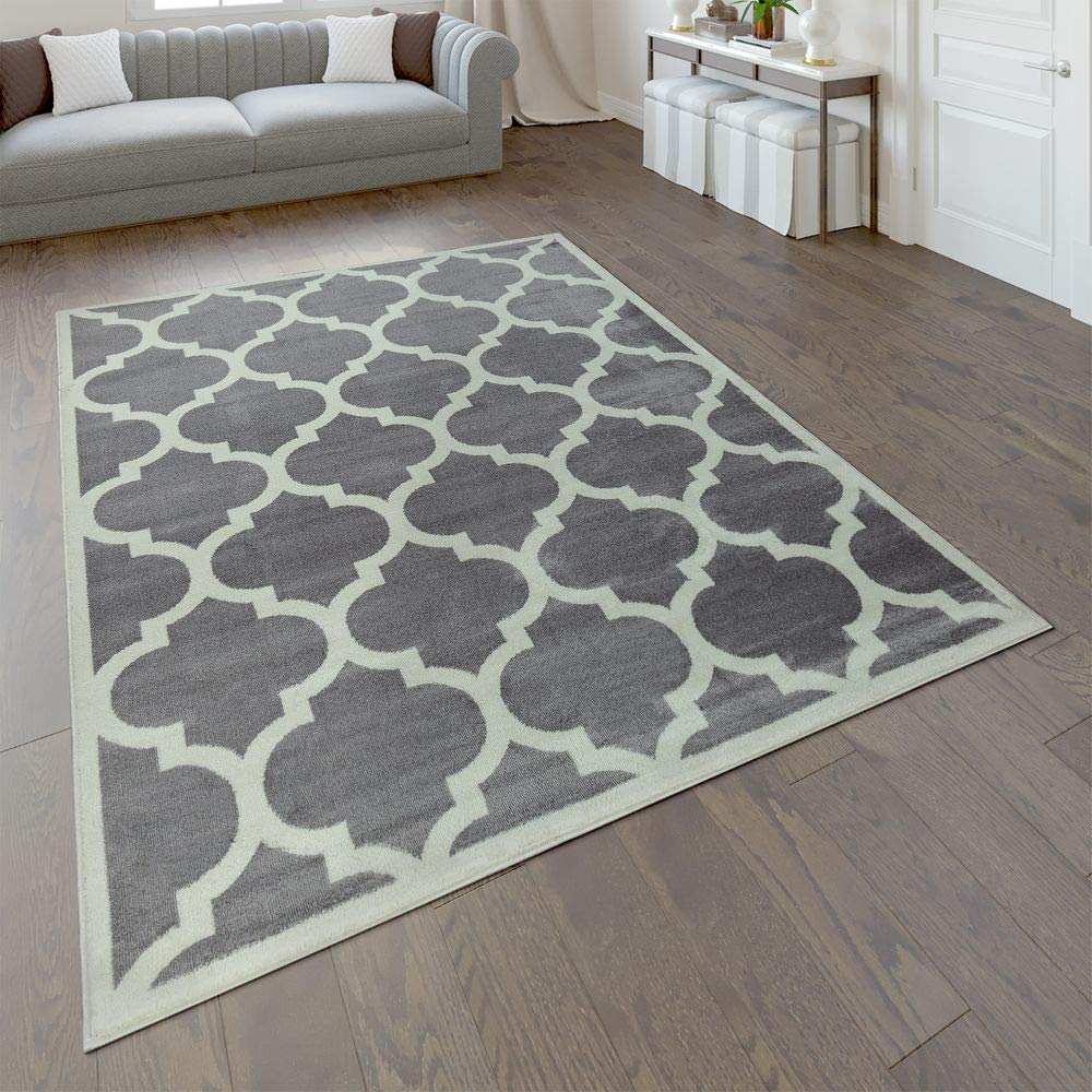 Paco Home Designer Teppich Marokkanisches Muster Kurzflorteppich