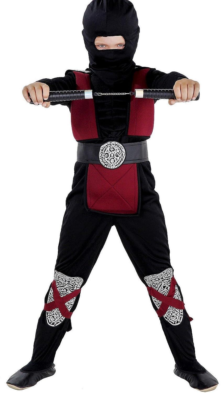 Disfraz infantil de ninja, con músculos, disfraz completo de ninja ...