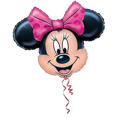 "Anagram Disney Minnie Mouse Head Jumbo 28"" Foil Balloon: Toys & Games"