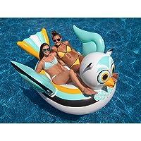 Cinderella Swimline 90721M Swimming Pool Lake Giant Rideable Owl Inflatable Float (White)