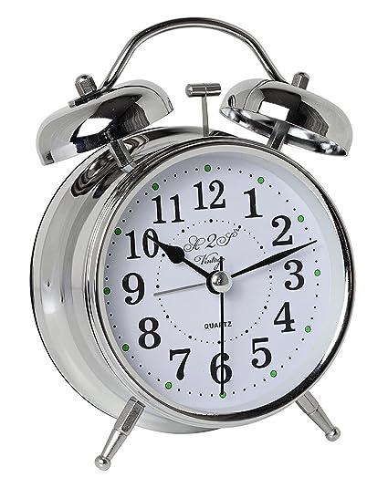 Amazoncom A2s Vintage Style Alarm Clock Twin Bell Analog