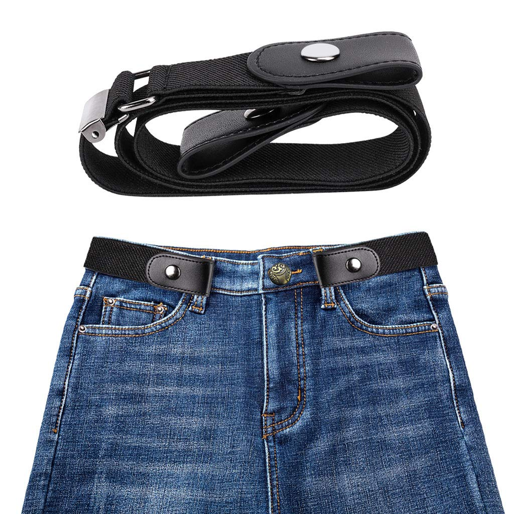 Simdoc 89x3.5cm Lazy No Buckle Elastic Waist Belt,Women Stretchy Cinch Belt Invisible Waist Belts For Jeans Pants Dresses