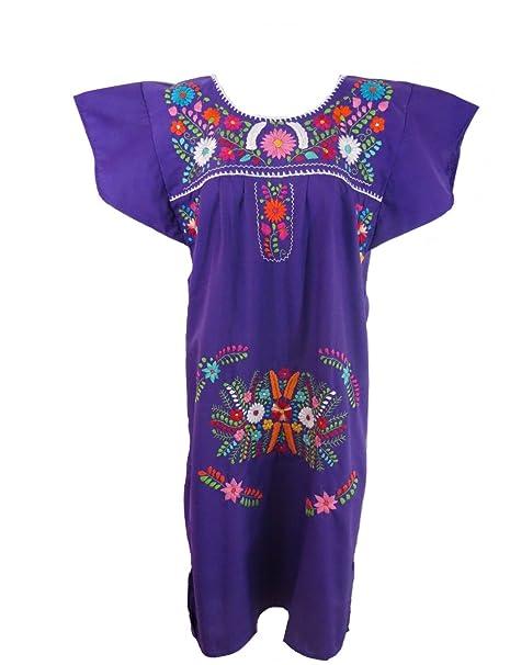601ed084f Artesanias FR Leos Mexican Imports Women's Mexican Puebla Dress: Amazon.ca:  Clothing & Accessories