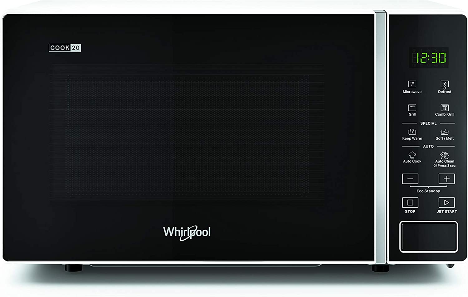 Whirlpool MWP 203 W - Horno microondas 20 litros blanco con grill