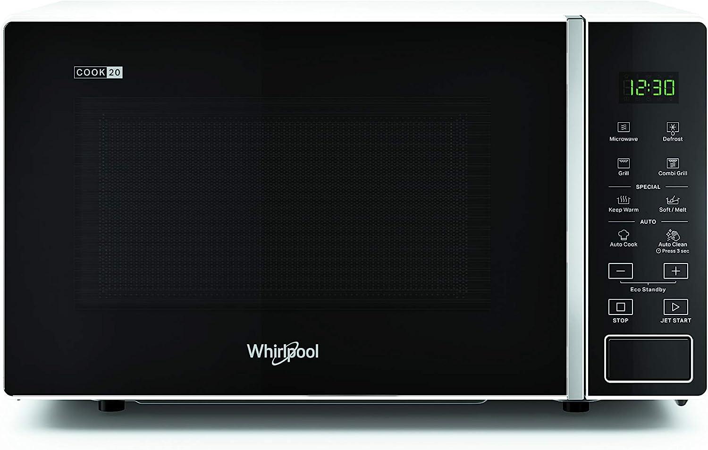 Whirlpool MWP 203 W Horno microondas + grill, 20 litros, blanco, con rejilla alta