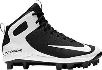 Nike Men's Alpha Huarache Pro Mid Baseball Cleats(Black/White, 6.5 D(