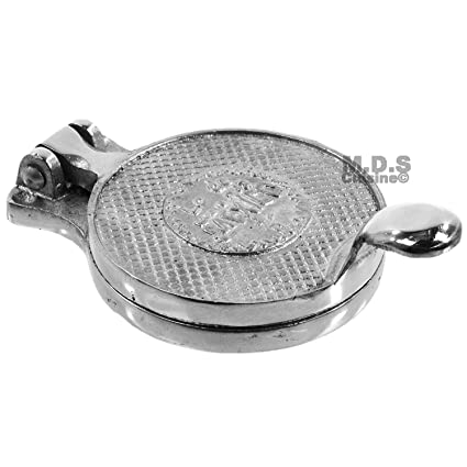 "Gordita and Sope Press Hamburger Patty Press Aluminum 4.5"" Quality Flat Breads New"