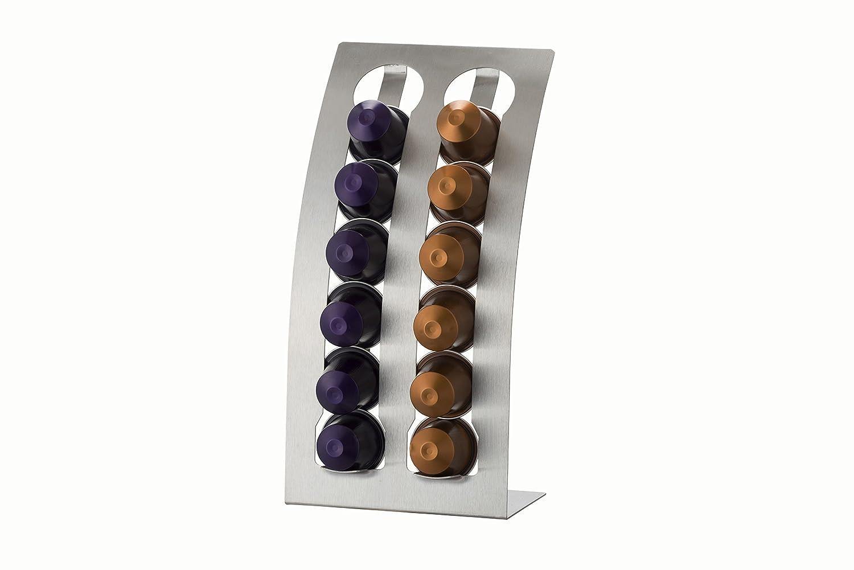 Le'Xpress Stainless Steel Nespresso Coffee Pod Holder, for 12 Capsules Kitchen Craft KCLX12PODNE