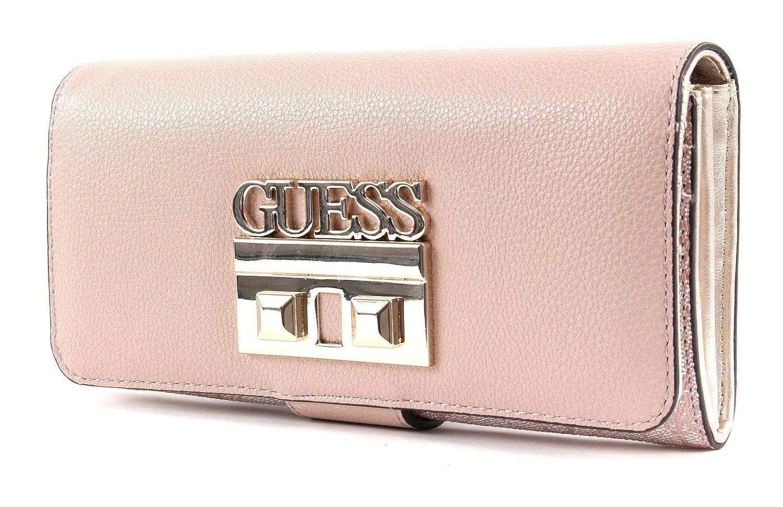 Guess Logo Luxe SLG File Clutch Blush