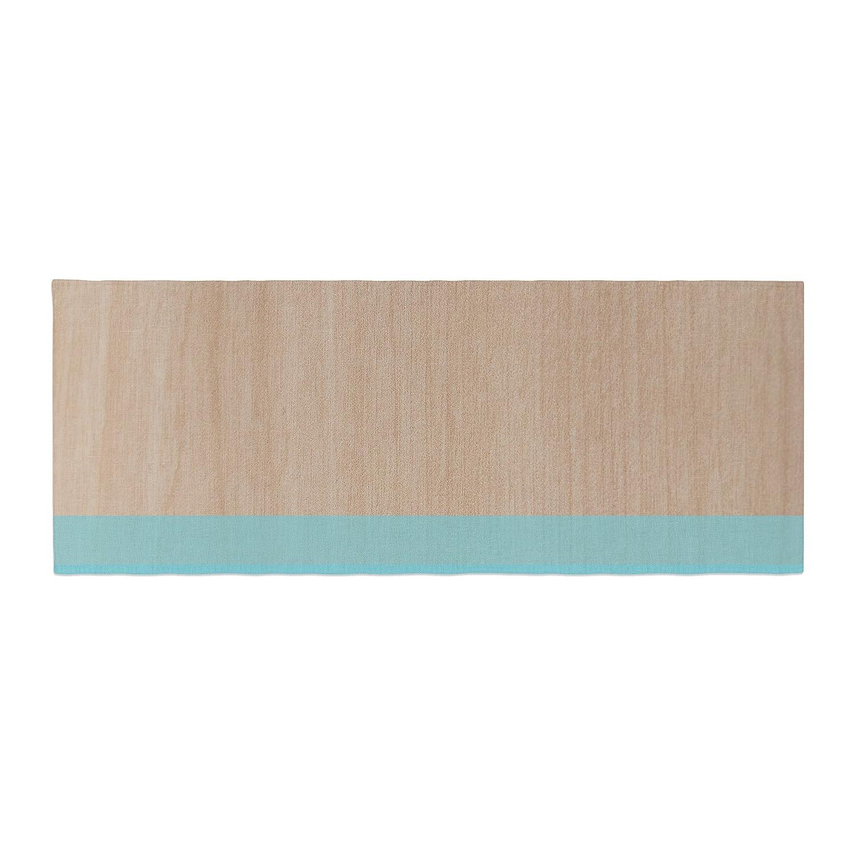 Kess InHouse Brittany Guarino Art Blue Aqua Wood Bed Runner BG2011ABR01