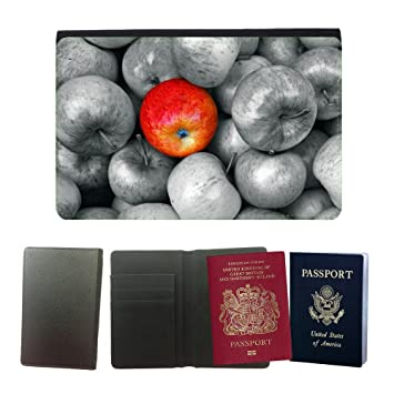 Passeport Voyage Couverture Protector // M00154815 Manzanas fruta roja de Apple Vitaminas // Universal